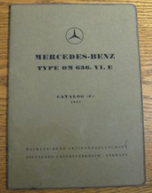 Mercedes-Benz Engine OM636 Parts Catalog Manual Original W191 170DS - $110.88