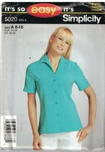 5020 Vintage Simplicity SEWING Pattern Misses Button Front Blouse Career... - $4.89