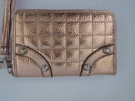 Jessica Simpson Quilted SQUARES/STUDS Rose Gold Wristlet Wallet Purse~Nwt $45 - $29.69