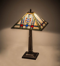 "Meyda Tiffany Red, Greens, Blues Prairie Wheat Table Lamp 22""H - $349.50"