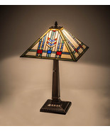 "Meyda Tiffany Red, Greens, Blues Prairie Wheat Table Lamp 22""H - $349.50"
