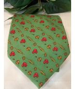 Salvatore Ferragamo Mens 100% Silk Soie Neck Tie Italy Preowned Wheat Poppy EUC - $59.00