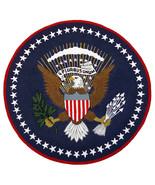 US Logo Flag 6'x6' Eagle Pluribus President Hand Tufted 100% Woolen New ... - $177.31