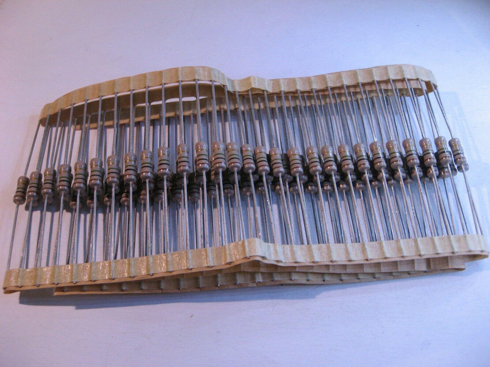 1200 Ohm 1K2 10/% Carbon Composition Resistor 1//2 Watt 1.2K NOS Qty 25