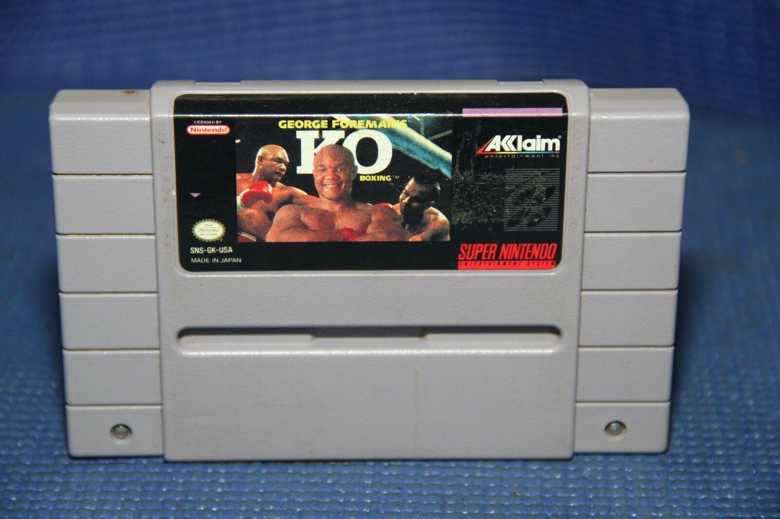 George Foreman's KO Boxing (Super Nintendo Entertainment System, 1993) SNES