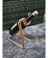 Copper Pipe Wine Holder Ideal Unique Gift - $19.35