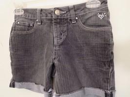 Justice Girls Size 10 R  Dark Gray Denim Shorts  Excellent Condition - $7.91