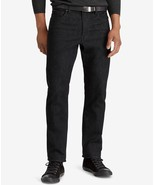NEW MENS POLO RALPH LAUREN PROSPECT STRAIGHT STRETCH ZIP FLY BLACK JEANS... - $53.99
