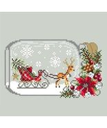 Sleigh Snow Globe christmas holiday cross stitch chart Shannon Christin - $10.00