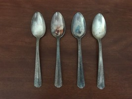 Vintage 1936 American Silver Co. Set Of 4 Camelot-American Pattern - $13.86