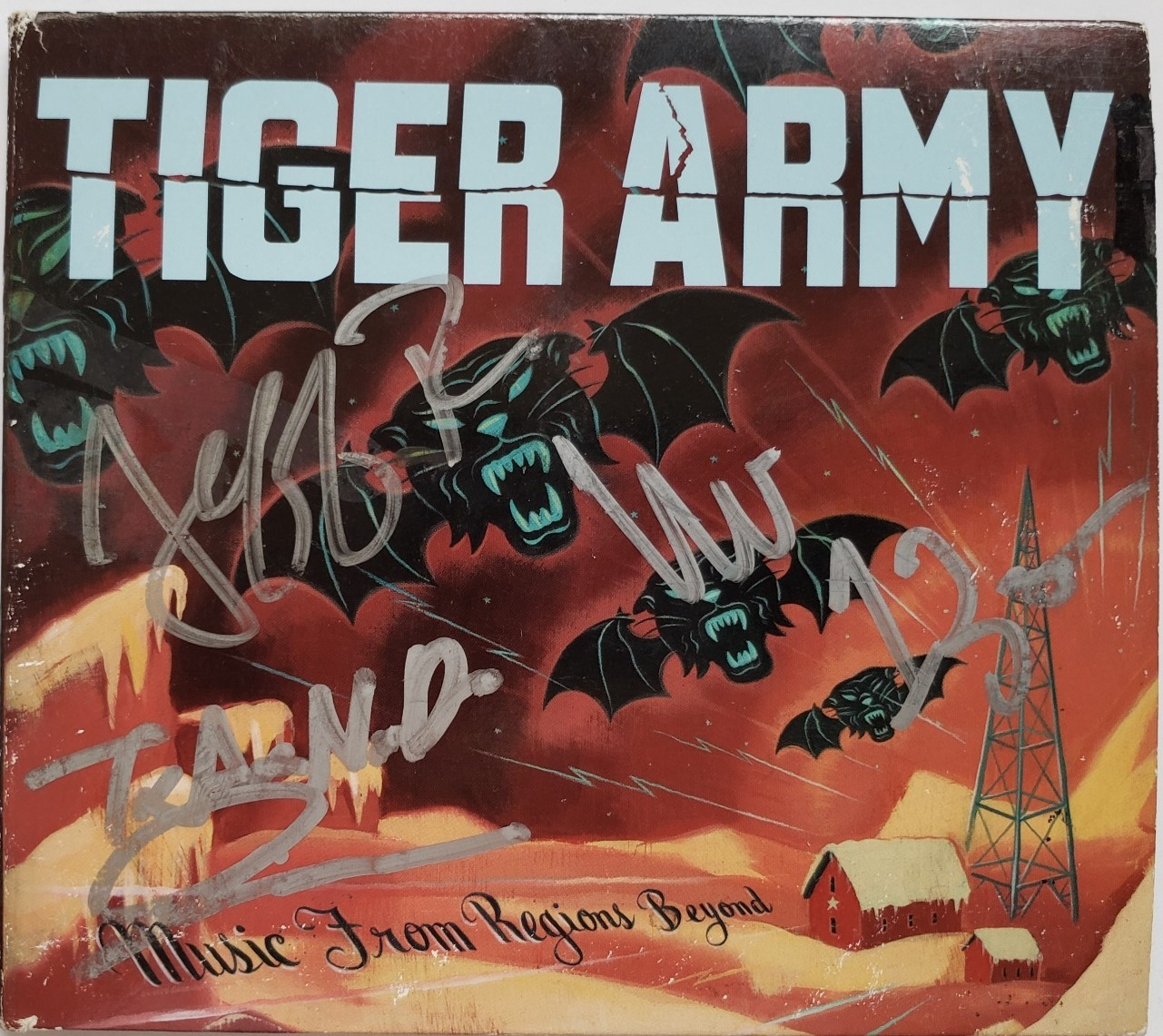Tiger Army Music From Regions Beyond Autographed CD