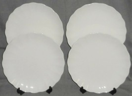 1970s-80s Mikasa CAMEO WHITE PATTERN Bone China DINNER PLATES Made in Japan - $89.09