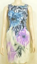 Elie Tahari dress SZ 2 LOT of 2  1 turquoise 1 floral sheath career chic lined image 3