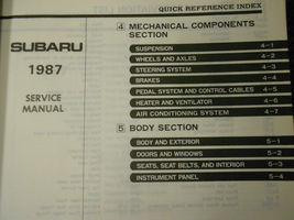1987 Subaru XT Service Reparatur Shop Manuell Set Fabrik OEM Bücher 87 image 5