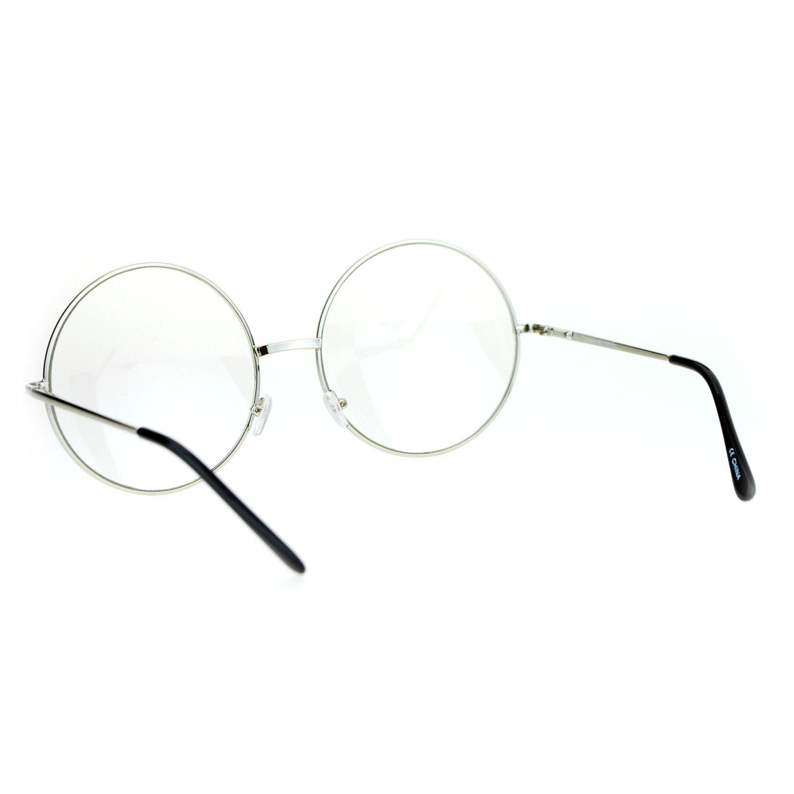 fba47f029a SA106 Extra Large Round Circle Lens Hippie Groovy Womens Eye Glasses