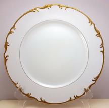 "Mikasa Venice Dinner Plate 10-3/8""  White Fine China Gold Trim 9266 - $10.89"