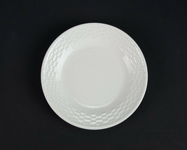 "Wedgwood Nantucket Bread Plate, All White Basketweave, Dessert, Cake, England 6"" - $9.80"