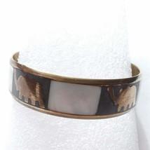 Brass elephants inlay bracelet X17 - $14.80