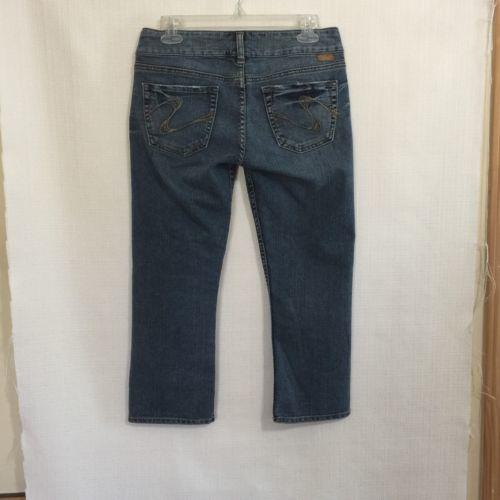 Silver Jeans Sasha Cropped Size 27 Medium Wash