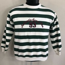 Vintage Guess Striped Shirt Sweatshirt OG Crewneck White Green Made USA ... - $49.99