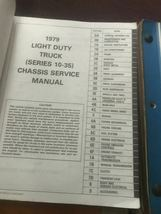 1979 Chevy Licht Duty Truck Shop Reparatur Service Manuell Set W Einheit + Teile image 4