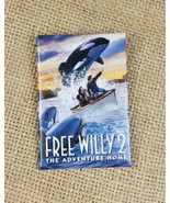 Vintage Warner Bros. Free Willy 2 The Adventure Home promo pin back butt... - $22.21