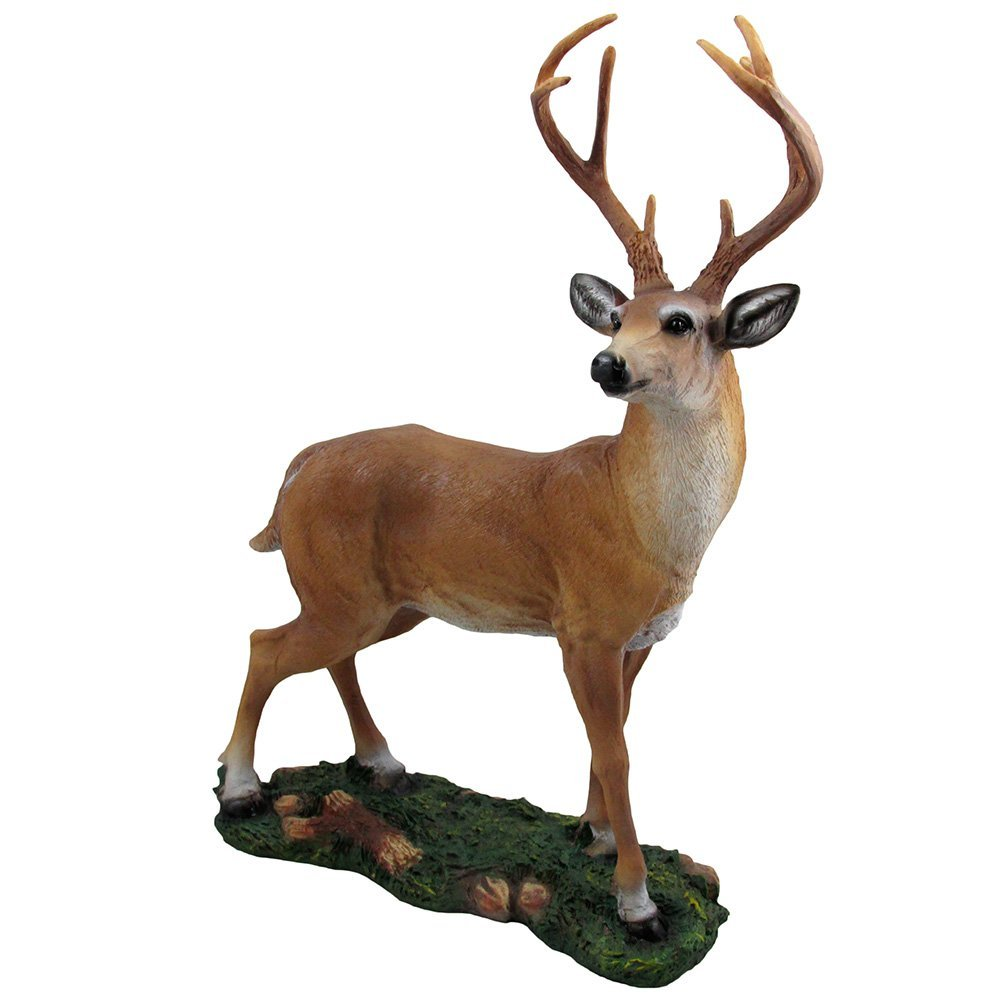 Decorative Big Buck Statue in Rustic Lodge Sculptures and Cabin Decor Art, Fores