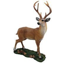 Decorative Big Buck Statue in Rustic Lodge Sculptures and Cabin Decor Ar... - $32.62