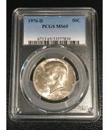 1970-D Kennedy Silver Half Dollar 50c PCGS MS65  Scarce Date - $64.35
