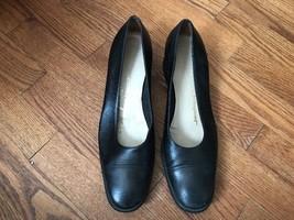 Salvatore Ferragamo Boutique Pumps Shoes Size 9 AA Narrow Leather Black ... - $37.39