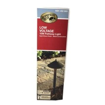 Hampton Bay Black Bollard Path Light Low Voltage Landscape Outdoor Walkw... - $17.75