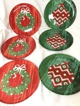 "Christmas Set of 6 -8"" Melamine Salad/ Dessert Plates Citrus Grove BPA F... - $14.85"