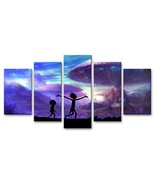 33wallart Large Modern Wall Art Canvas Print Decor Large 5 Piece Abstrac... - $69.96