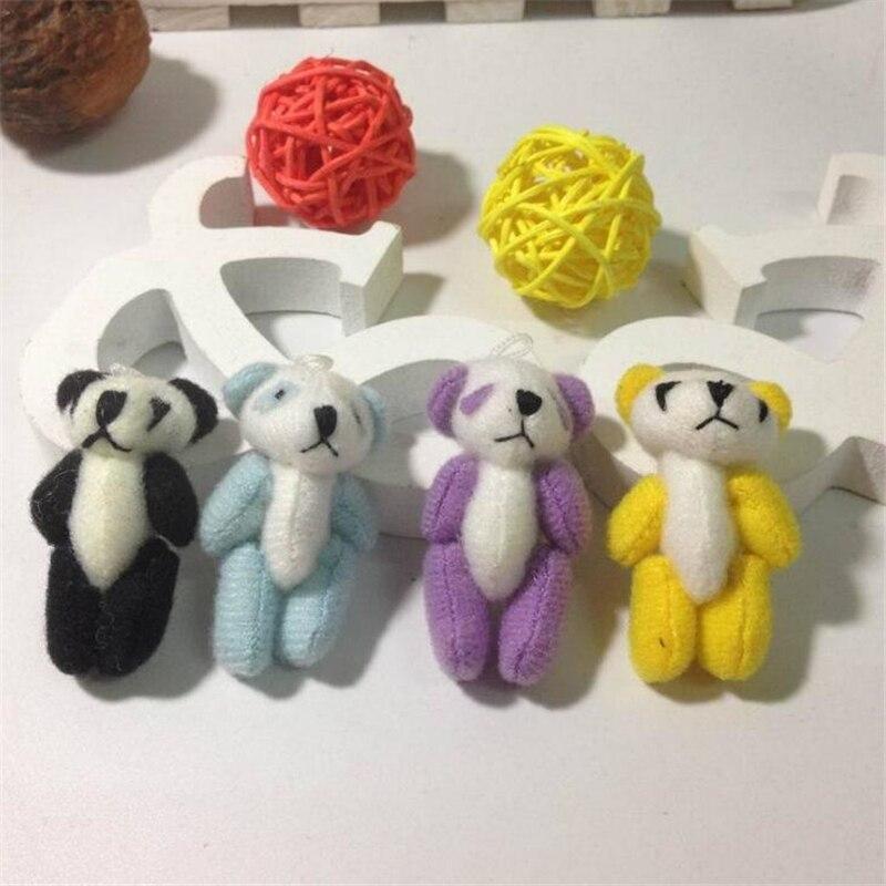 100pcs/lot Kawaii Small Joint Panda Bear Stuffed Plush Toys,Small Phone Pendant