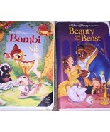Bambi (VHS) Black Diamond The Classics and Beauty and the Beast Black Di... - $32.71