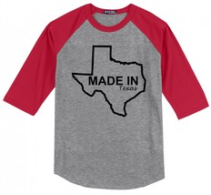 Made In Texas Cute Home State Pride Shirt Mens Raglan T - $16.99