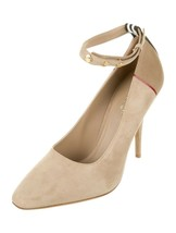 M-120119 New Burberry Beige Tawny Kiton Ankle Strap Pumps Size 36 US 6 - $223.09