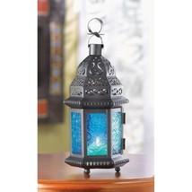Blue glass moroccan style lantern thumb200