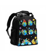 Washable Backpack Diaper Bag Earth Planet Expressing Emotions Color Chan... - $42.00