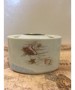 "Vintage ""Ebb Tide "" Otagiri Toothbrush Caddy Seashore Beach Bathroom Decor  - $10.00"