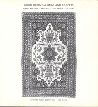 Illustrated Auction Catalog Good Oriental Rugs and Carpets 1973 Prices R... - $12.00