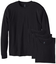 Hanes Men's Long-Sleeve ComfortSoft T-Shirt (Pack of 4) (X-Large|Black) - $33.49