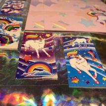 ⚡️SALE  Markie The Unicorn Lisa Frank Stationery Lot  Postalettes Stickers image 3