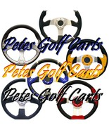 Golf Cart Steering Wheel Many Colors EZGO Club Car Gem Polaris Tomberlin... - $29.65+