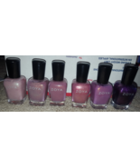 Zoya nail polish set Nikki Deidra Charity Fawne Zara Juno pink purple - $32.00