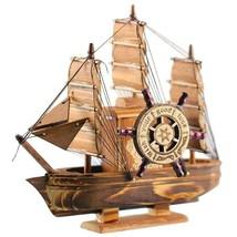 Vintage Marine Nautical Wood Sailing Boat Ship Wood Crafts Fully Assembled - $5.92