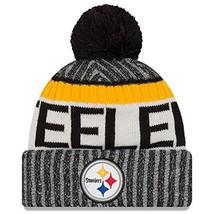 Era Knit Pittsburgh Steelers Black On Field Sideline Sport Knit Winter S... - $31.91
