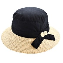 CS-321 LADIES CASULA HAT WITH RAFFIA One Size NWT FREE SHIPPING - $18.69
