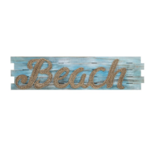 Woven Seagrass Wood Beach Wall Hanging Plaque Sign-Tropical-Coastal Char... - $153.45