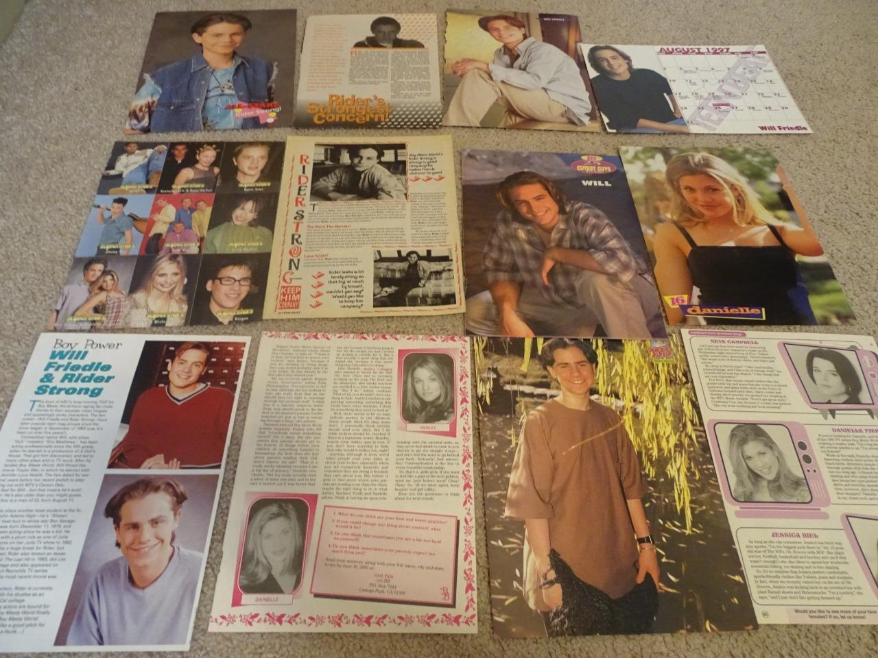 Danielle Fishel Rider Strong Ben Savage teen magazine pinups clippings Bop